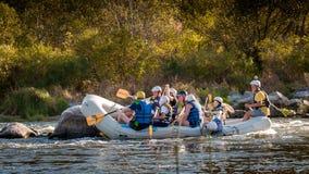 Rafting στην Ουκρανία Διασκέδαση, επικίνδυνη, τολμηρή δράση Στοκ Εικόνα