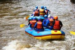 Rafting στον ποταμό Elo, Borobudur, Magelang, κεντρική Ιάβα Στοκ φωτογραφία με δικαίωμα ελεύθερης χρήσης