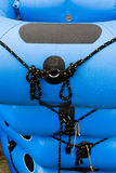 Rafting. Close up of a inflatable Royalty Free Stock Images