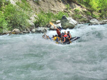 Rafting. On the river Lim in Montenegro stock photos