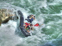 Rafting. On the river Lim in Montenegro stock image