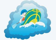 Rafting stock illustratie