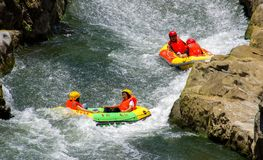 Rafting stock foto