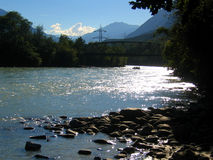 Rafting. Down river in austria stock photography