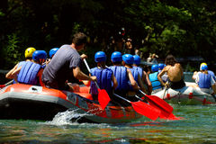 Rafting. On Cetina River in Croatia Stock Images