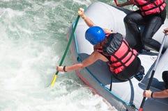 Rafting als extreme en pretsport royalty-vrije stock foto