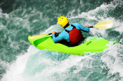 Rafting als extreme en pretsport stock foto's