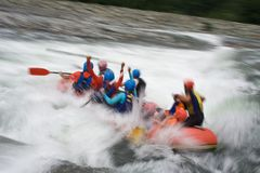 Rafting as extreme Royalty Free Stock Photography