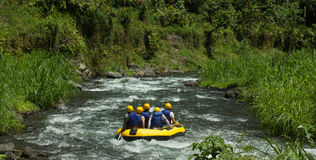 Rafting in Asia Stock Image