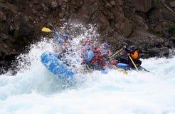 rafting av floden Arkivbild