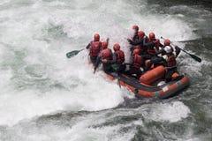 rafting av whitewater Fotografering för Bildbyråer