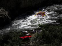 Rafting bij de Rivier royalty-vrije stock afbeeldingen