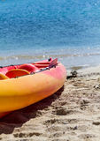 Rafting boat on beach Royalty Free Stock Photography