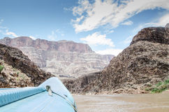 Rafting on a calm portion of the Colorado River i the Grand Cany Stock Image