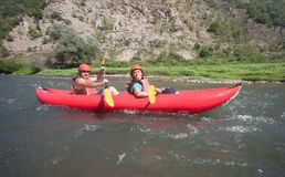 Rafting Canoe River Stock Photos