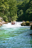 Rafting in the canyon of River Neretva Stock Photography
