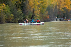 Rafting on the Chilkat River in Alaska Stock Images