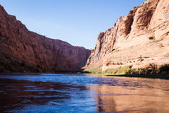 Rafting the colorado river Stock Photo
