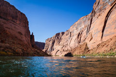 Rafting the colorado river Royalty Free Stock Photos