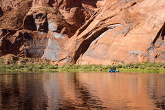 Rafting the colorado river Royalty Free Stock Photography