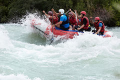 Rafting competition royalty free stock images