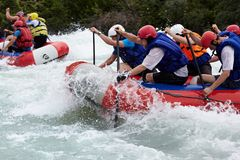 Rafting competition Royalty Free Stock Photo