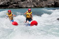 Rafting competition Stock Photography
