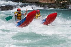 Rafting competition Stock Images