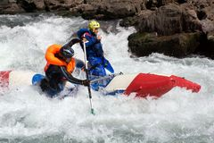 Rafting competition Royalty Free Stock Image