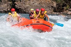 Rafting competition Stock Photo