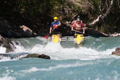 Rafting competition Stock Image