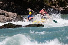 Rafting competition Royalty Free Stock Photography