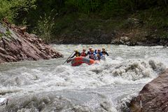 Rafting competition. Interrally Belaya 2019. Iner Rally White 2019. Russia. Adygea. 05 02 2019 stock images