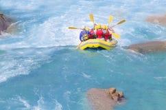 Rafting in de rivier royalty-vrije stock afbeeldingen