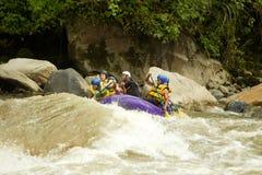 Rafting del fiume di Whitewater Fotografie Stock Libere da Diritti