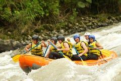 Rafting del fiume di Whitewater Immagine Stock