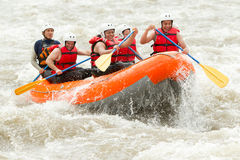 Rafting del fiume di Whitewater Fotografie Stock