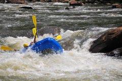 Rafting dell'acqua bianca Immagini Stock