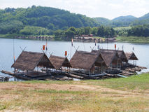 Rafting di bambù fotografia stock