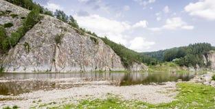Rafting di Belaya del fiume Immagine Stock