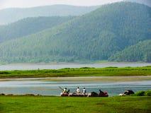 Rafting di Jamshedpur, India - fiume nella posizione scenica Fotografie Stock Libere da Diritti