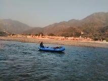 Rafting di Rishikesh, immagine stock