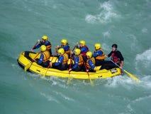 Rafting di Soca Fotografia Stock