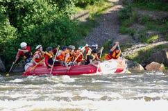 Rafting di Whitewater Immagini Stock