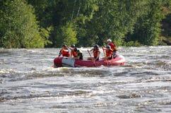 Rafting di Whitewater Fotografie Stock Libere da Diritti