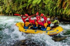 Rafting di Whitewater sul fiume di Kaituna immagini stock libere da diritti