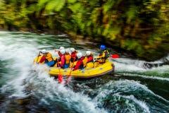 Rafting di Whitewater sul fiume di Kaituna fotografia stock