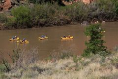 Free Rafting Down The Colorado River Royalty Free Stock Photo - 100812295