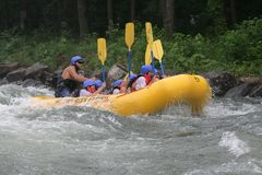 Rafting Downstream Stock Image