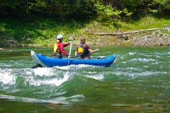 Rafting on the Dunajec river. stock photos